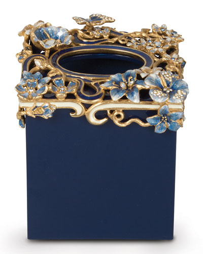 Hartley Delft Floral Scroll Tissue Box Cover