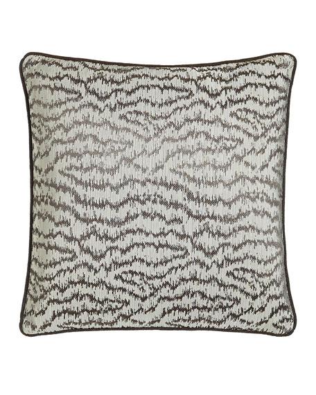 "Dante 18""Sq. Ikat Wave Pillow"