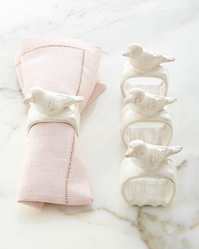 Bird Napkin Rings, Set of 4