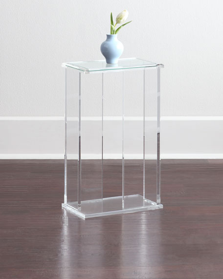 Interlude Home Chase Acrylic End Table Neiman Marcus