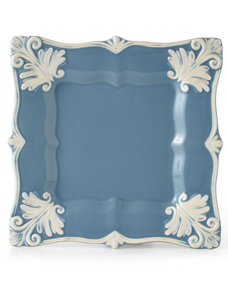12-Piece Blue Square Baroque Dinnerware Service