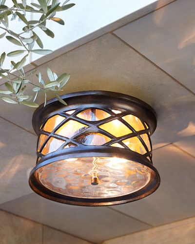 Barrington Gate Two-Light Outdoor Flush Mount