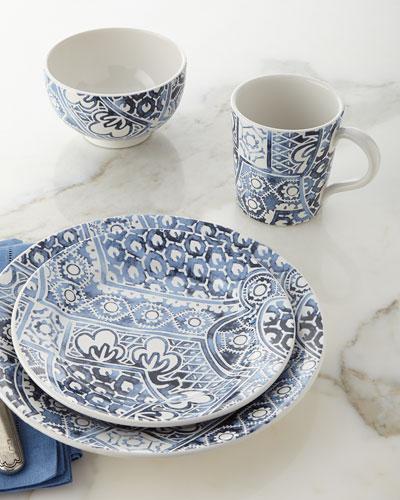 4-Piece Cote D'Azur Batik Dinnerware Place Setting