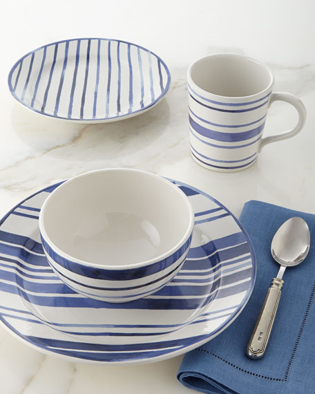 Ralph Lauren Home 4-Piece Cote D'Azur Stripe Dinnerware