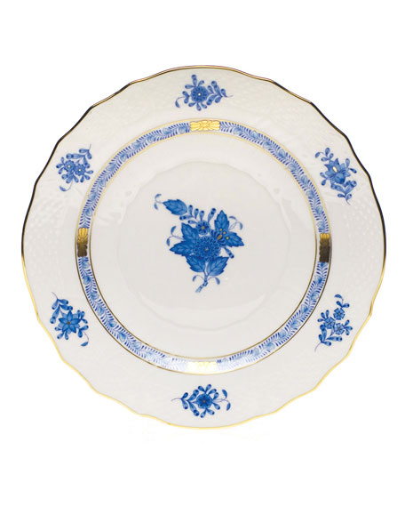 Blue Chinese Bouquet Salad Plate