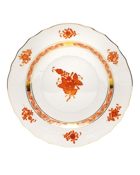 Rust Chinese Bouquet Salad Plate