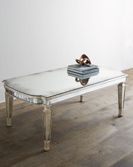 Mirrored Coffee Table john-richard collection dara mirrored coffee table