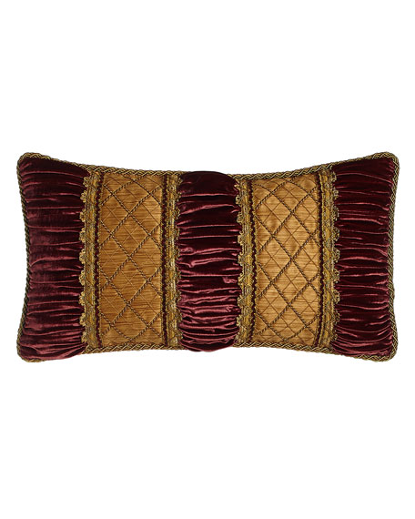 Sweet Dreams Her Majesty Oblong Pillow with Ruched Velvet Detail, 13