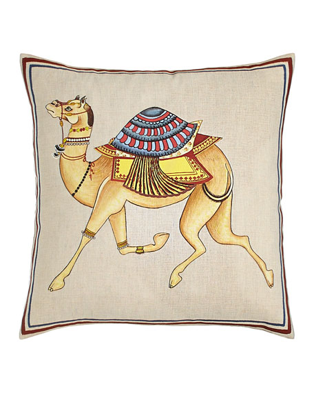 Hand-Painted Camel Pillow, 20