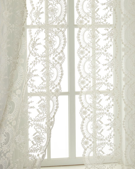 "Each 52""W x 108""L Chantilly Lace Curtain"