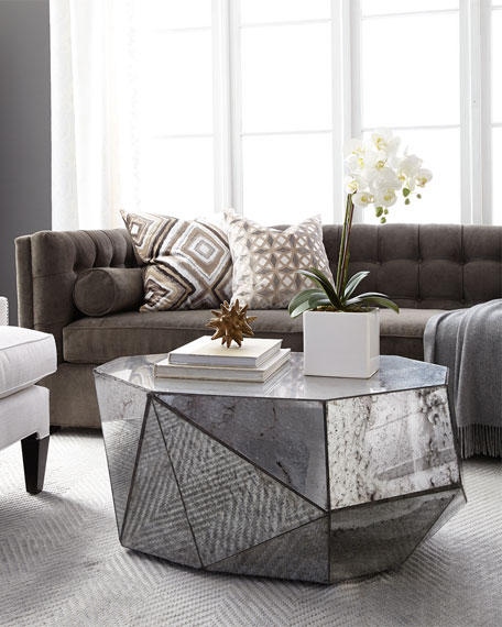 NEVAEH MIRRORED COFFEE TABLE