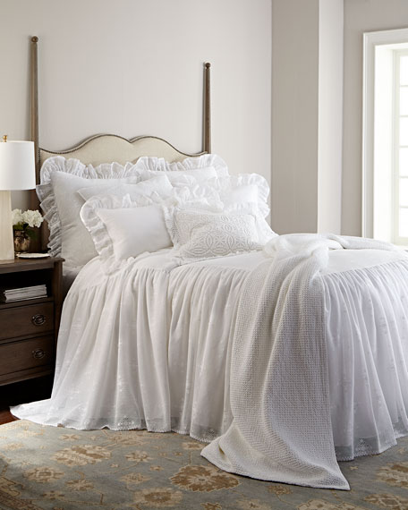 Pine Cone Hill Cecily King Skirted Bedspread