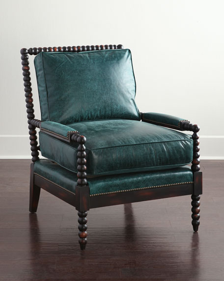 Delightful Monett Leather Chair