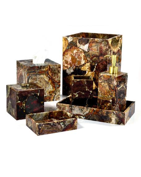 Petrified Wood Wastebasket