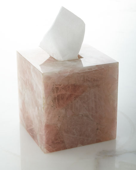 Rose Quartz Tissue Box Cover