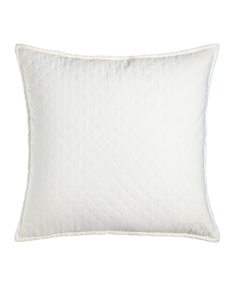 """Quilted Layla European Pillow, 28""""Sq."""