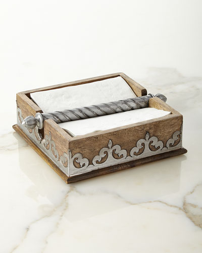 Wood & Metal Napkin Holder