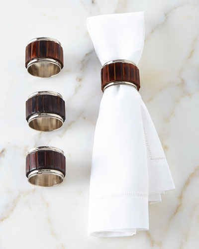 Bamboo Napkin Rings, Set of 4
