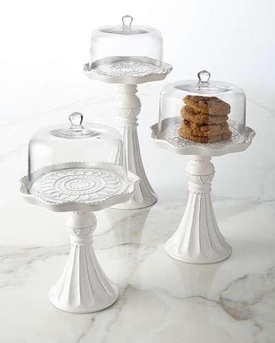 Pedestal Servers with Domes, 3-Piece Set