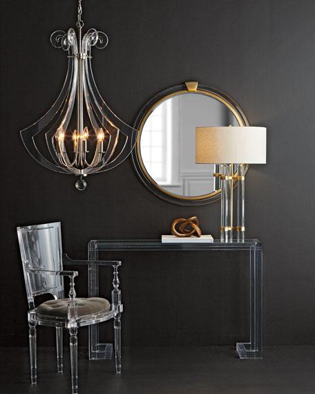 Acrylic Silhouette Six-Light Chandelier