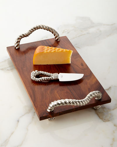 Rope Cheese Board with Knife