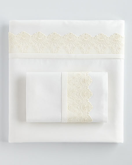 Queen 420TC Carlyle Lace Sheet Set