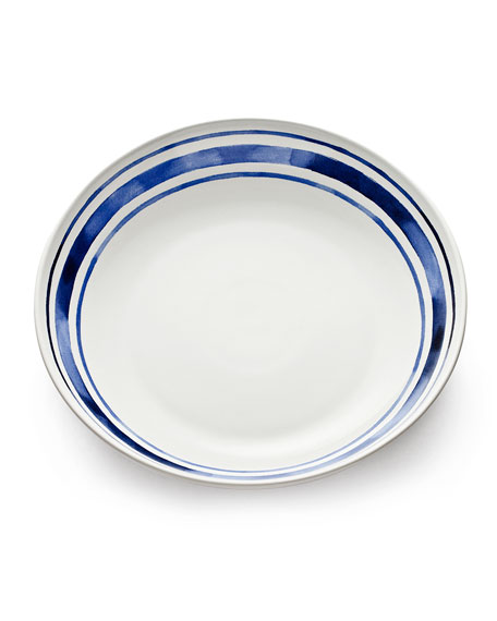 Cote D' Azure Stripe Shallow Serving Bowl