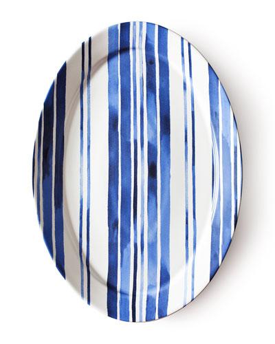 Ralph Lauren Home Cote D'Azur Stripe Oval Platter