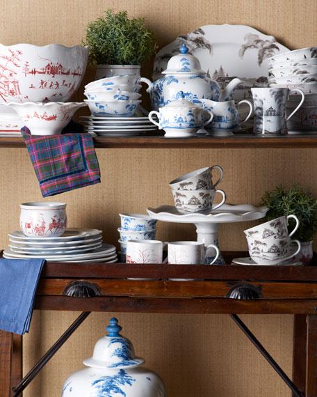 Country Estate Delft Blue Lidded Sugar/Jam Bowl Main House