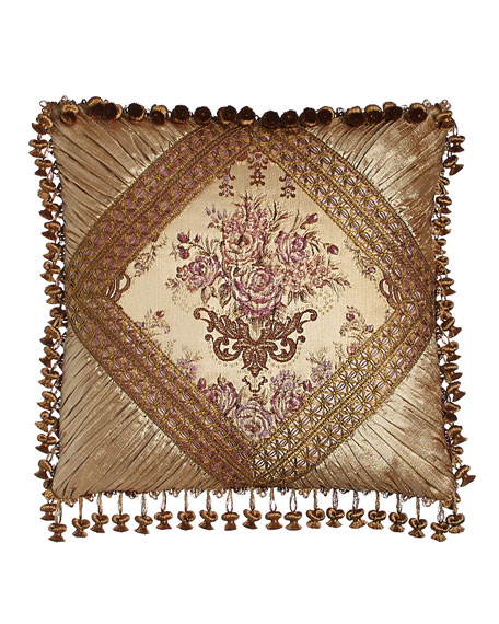 Sweet Dreams Primrose Pieced Pillow with Onion Trim, 18