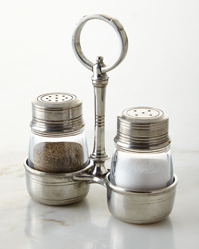Tavola Small Salt & Pepper with Caddy