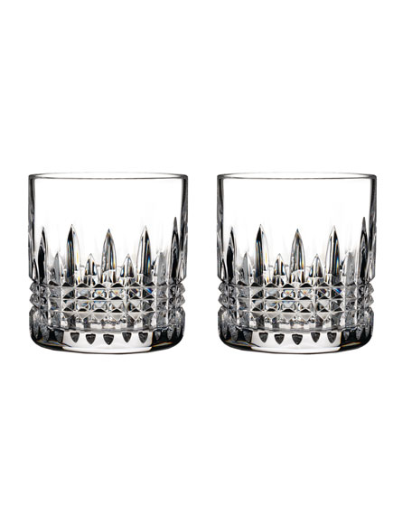 Waterford Lismore Diamond Double Old-Fashioneds, Set of 2