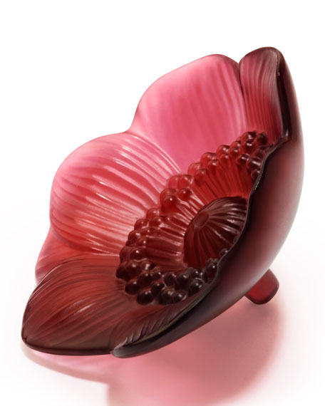 Lalique Anemone Figure, Red