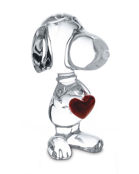 Baccarat Snoopy with Heart Figurine