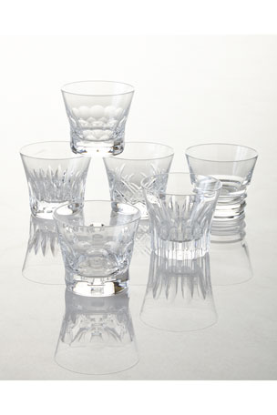 Baccarat Everyday Baccarat Assorted Old Fashion Tumblers, Set of 6