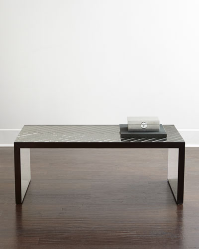 Troy Chevron Mirrored Coffee Table