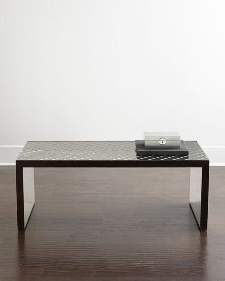 Regina Andrew Design Troy Chevron Mirrored Coffee Table