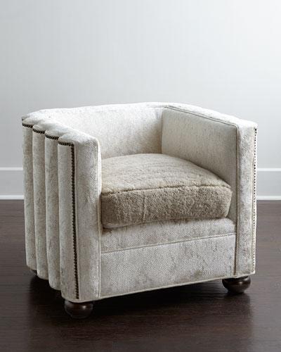 Myra Velvet Wave Chair