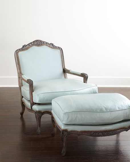 Genial Old Hickory Tannery Bates Leather Bergere Chair U0026 Ottoman U0026 Matching Items  | Neiman Marcus