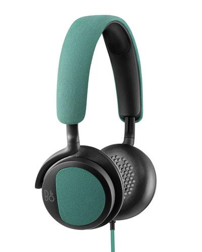 H2 Green Over-Ear Headphones
