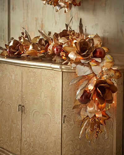Pre-Lit Haute Chocolate 6' Christmas Garland