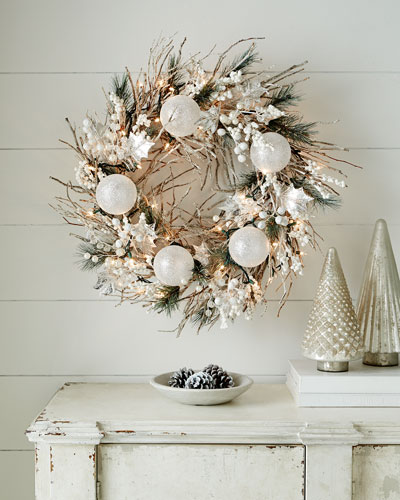 "White Christmas 28"" Wreath"
