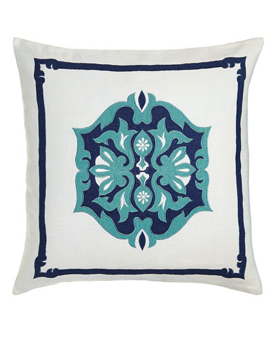 Ocean Reef White Moroccan Pillow