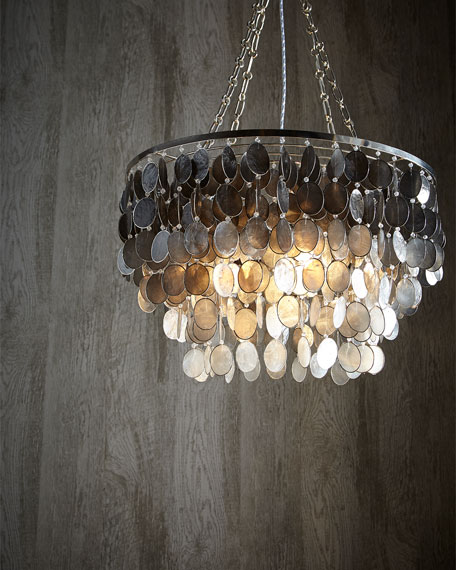 Ombre Capiz 2-Light Chandelier
