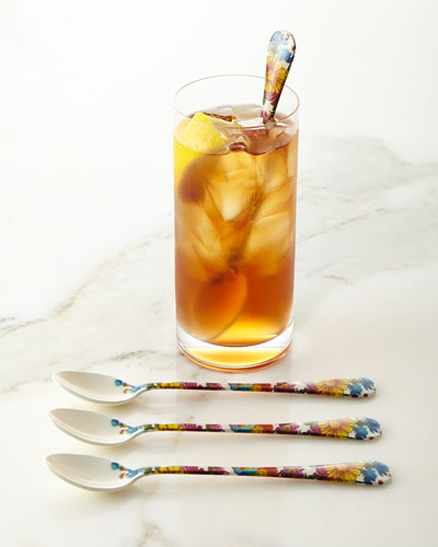 Flower Market Iced Tea Spoons, Set of 4