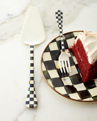 Courtly Check Cake Server
