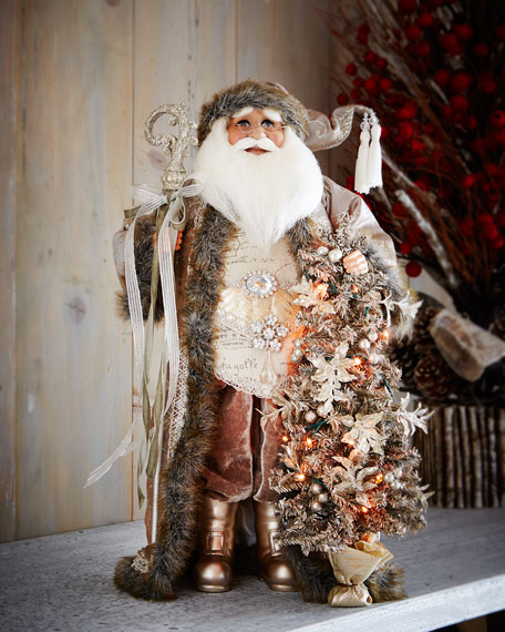 Karen didion originals lighted winter magic santa