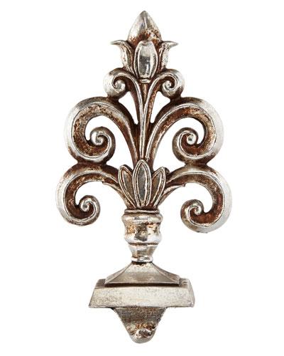 Baroque Silver Fleurette Stocking Hook