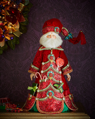 "Advent Santa 28"" Doll"