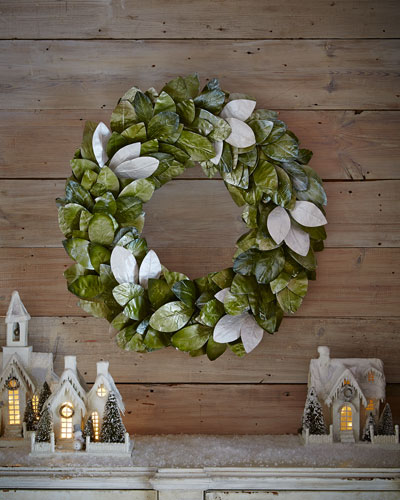 "Magnolia Leaf 28"" Wreath"